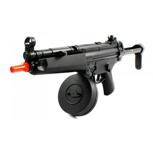 M16 Airsoft Guns  1 electric aeg well fps-275 d95b airsoft rifle with drum magazine