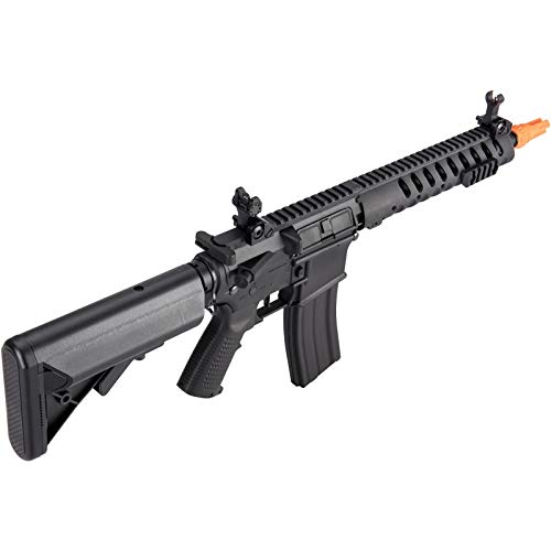 Lancer Tactical  6 Lancer Tactical Classic Army Skirmish Series Delta 10 M4 Airsoft AEG Rifle Black 350 FPS