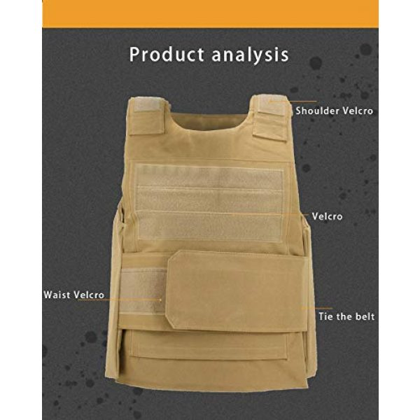 BGJ Airsoft Tactical Vest 3 Military Gear Tactical Vest Army Training Combat Men Plate Carrier Molle Vest Airsoft Paintball Body Armor Outdoor Hunting Vest