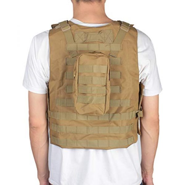 KIDYBELL Airsoft Tactical Vest 3 KIDYBELL Khaki Adjustable Airsoft Vest Lightweight Oxford Cloth Tactical Training Vest is Suitable for Outdoor Hunting Army Fan Combat Training Airsoft and Other Outdoor Sports