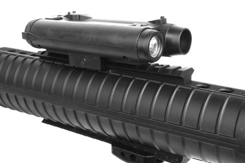 Well  7 wellfire m16a3 Spring Airsoft Rifle - w/Vertical Grip & Flashlight Unit m16(Airsoft Gun)