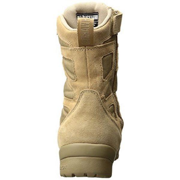 BLACKHAWK Combat Boot 3 BLACKHAWK 83BT19DE-140W Ultralight Side Zip Boot, Wide/Size 14, Desert Tan
