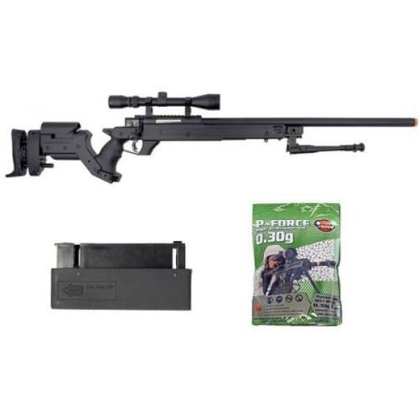 Well Airsoft Rifle 1 Well awn aps2 airsoft sniper rifle bi-pod scope 3,300 .30g bb's extra magazine(Airsoft Gun)