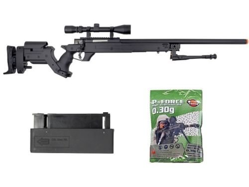 Well  1 Well awn aps2 airsoft sniper rifle bi-pod scope 3