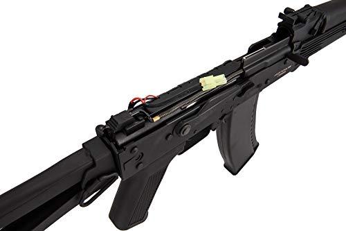 Lancer Tactical  6 Lancer Tactical AK-Series AKS-105 AEG Airsoft Rifle with Skeleton Foldable Stock Black