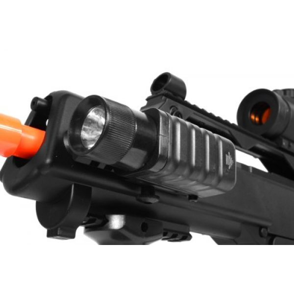 TAC Airsoft Rifle 6 DE R36C TacSpec Electric AEG Rifle w/Flashlight and Red Dot Scope