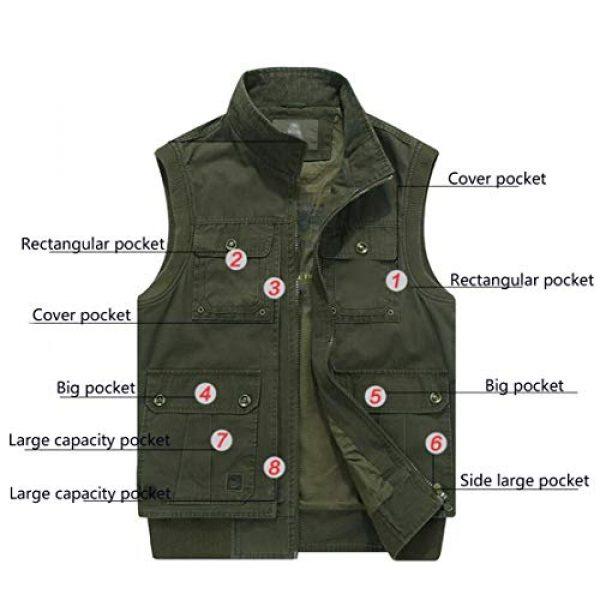 DAFREW Airsoft Tactical Vest 5 DAFREW Men's Vest Vest Casual Cotton Vest Men's Outdoor Travel Vest (Color : Khaki, Size : XL)
