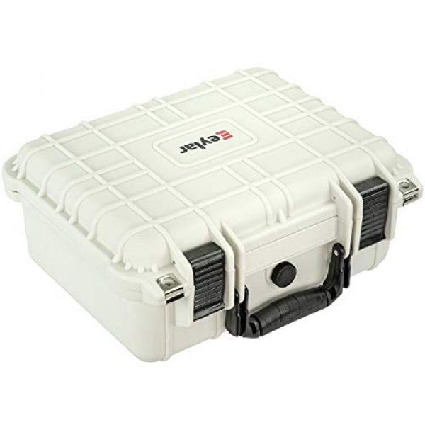 Eylar Pistol Case 5 Eylar Tactical Hard Gun Case Water & Shock Proof with Foam TSA Approved 13.37 Inch 11.62 Inch 6 Inch Storm White