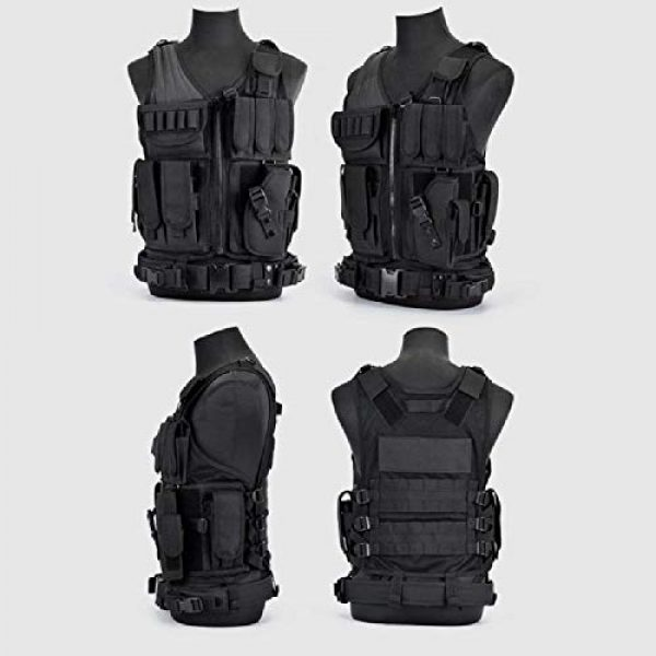 BGJ Airsoft Tactical Vest 4 BGJ Army Tactical Equipment Military Molle Vest Hunting Armor Vest Airsoft Gear Paintball Combat Protective Vest Camping Equipm