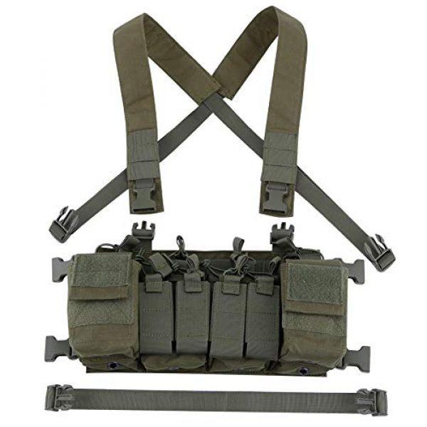 Tactical Area Airsoft Tactical Vest 6 CS Vest Multi-Functional Tactical Vest Breathable and Quick Release Lightweight Vest