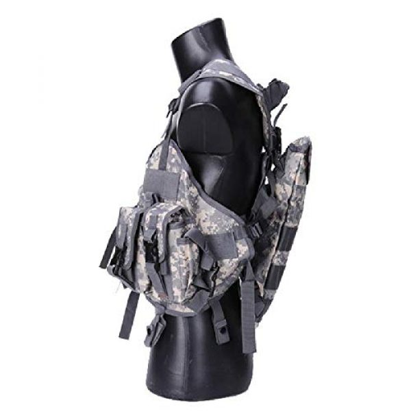 BGJ Airsoft Tactical Vest 6 Tactical Police Military Vest Wargame Sports Wear Airsoft Paintball Carrier Strike Vest with Water Bag