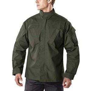 CQR Tactical Jacket 1 Men's Combat Military Jacket, Water Repellent Ripstop Army Fatigue Field Jacket, Outdoor EDC Tactical ACU/BDU Coat