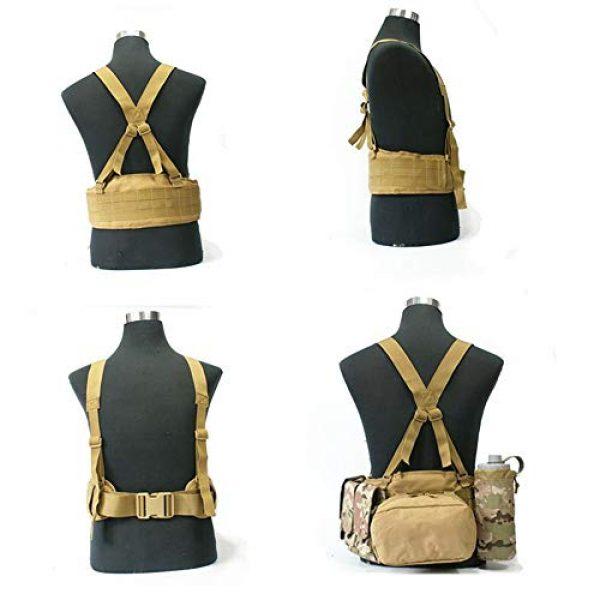 HWZ Airsoft Tactical Vest 8 HWZ Molle Portable Girdle Tactical Belt Nylon Outdoor Multifunctional Tactical Belt Vest