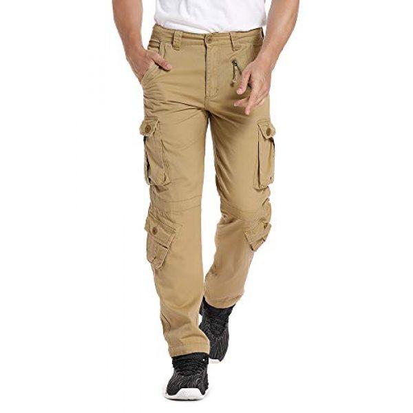 linlon Tactical Pant 3 Mens Cargo Pants, Camo Tactical Pants BDU Combat Work Pants with 8 Pockets