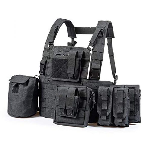 GXYWAN Airsoft Tactical Vest 3 GXYWAN Tactical CS Field Vest Paintball Training Air Gun Super Light Breathable Combat Adjustable Vest