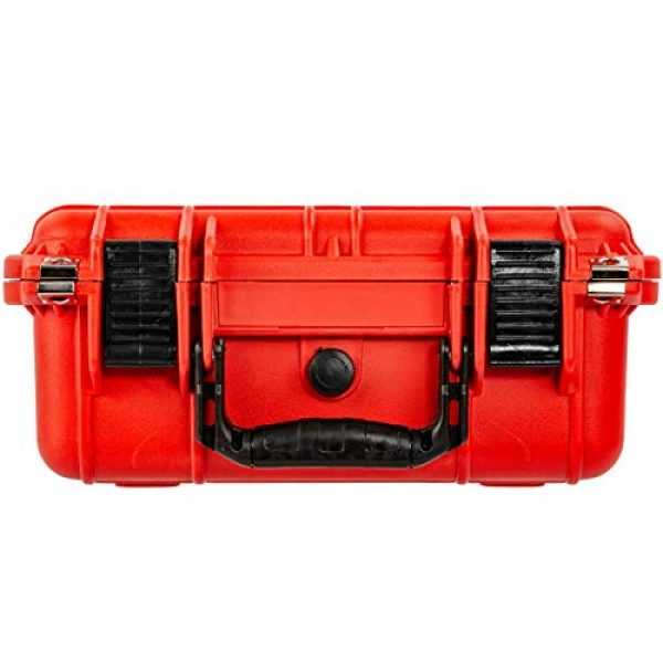Eylar Pistol Case 5 Eylar Tactical Hard Gun Case Water & Shock Proof with Foam 13.37 inch 11.62 inch 6 inch Red