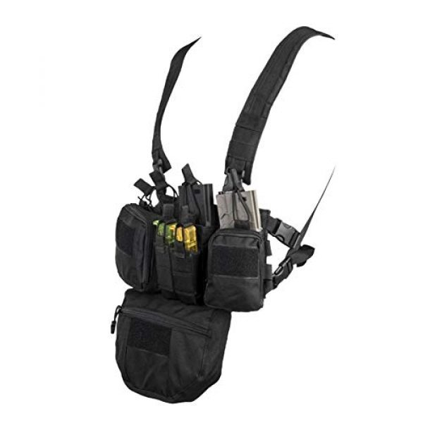 Shefure Airsoft Tactical Vest 2 Shefure CS Match Wargame TCM Chest Rig Airsoft Tactical Vest Military Pack Magazine Pouch Holster Molle System Waist Men Nylon