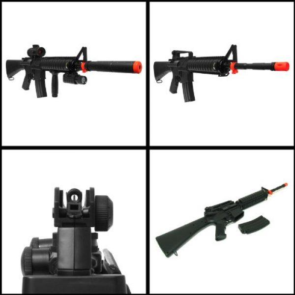 Double Eagle Airsoft Rifle 2 Electric Double Eagle Silenced m83b1 Tactical m4 Assault Rifle fps-200 Airsoft Gun(Airsoft Gun)
