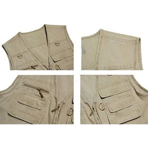 DAFREW Airsoft Tactical Vest 5 DAFREW Four Seasons Vest Middle-Aged Vest Multi-Pocket Vest Outdoor Leisure Fishing Vest (Color : Army Green, Size : L)