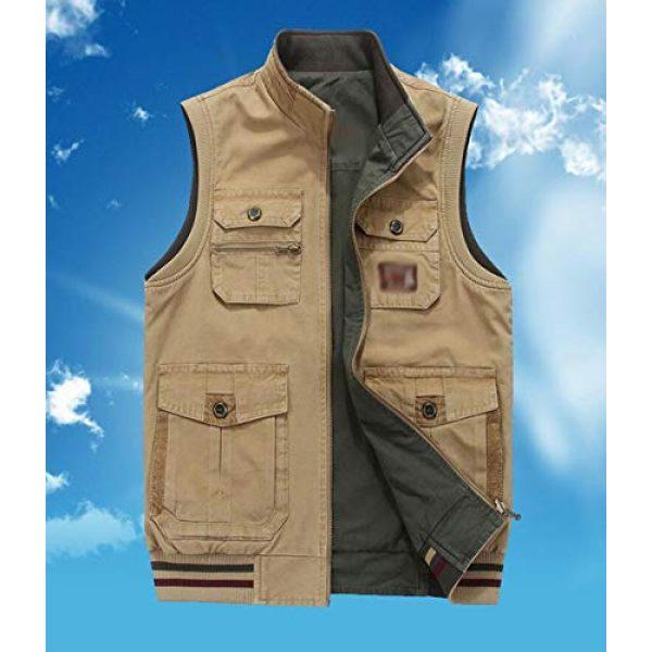 DAFREW Airsoft Tactical Vest 4 DAFREW Vest,Double-Sided wear Sleeveless Jacket Multi-Pocket Fishing Vest Jacket Wearing Vest Casual Jacket (Color : Army Green, Size : XXXL)
