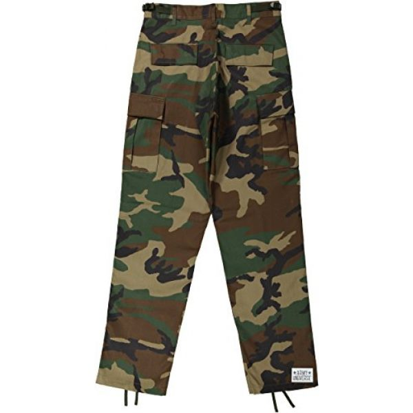 Army Universe Tactical Pant 2 Mens Woodland Camouflage Poly/Cotton Military BDU Army Fatigues Cargo Pants with Pin