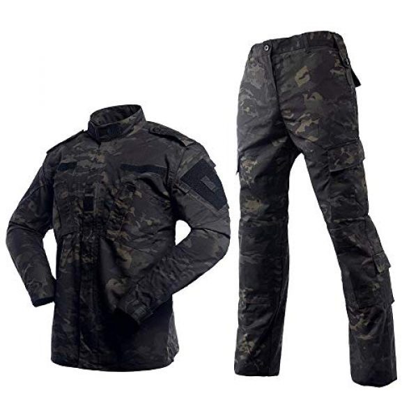 AKARMY Tactical Shirt 2 Unisex Lightweight Military Camo Tactical Camo Hunting Combat BDU Uniform Army Suit Set