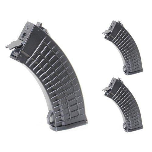 Airsoft Shopping Mall  1 Airsoft Shooting Gear 3pcs 500rd Waffle Mag Hi-Cap Magazine For AK-Series AEG Black