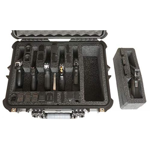 Case Club Pistol Case 3 Case Club 6 Pistol and 21 Magazine Pre-Cut Heavy Duty Waterproof Case with Included Silica Gel Canister to Help Prevent Gun Rust (Upgraded Gen-2)