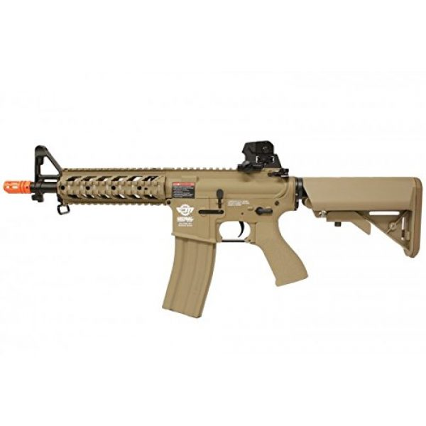 G&G Airsoft Rifle 1 combat machine m4 raider shorty w/ polymer ris (tan/cqb) (battery and charger package)(Airsoft Gun)
