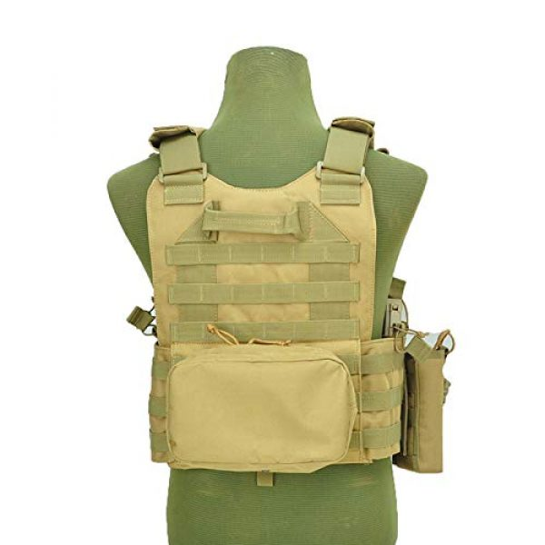 BGJ Airsoft Tactical Vest 6 BGJ Military Tactical Vest Army Airsoft Molle Vest CS Game Combat Gear Outdoor Various Accessory Kit Hunting Clothing Vest Multicam