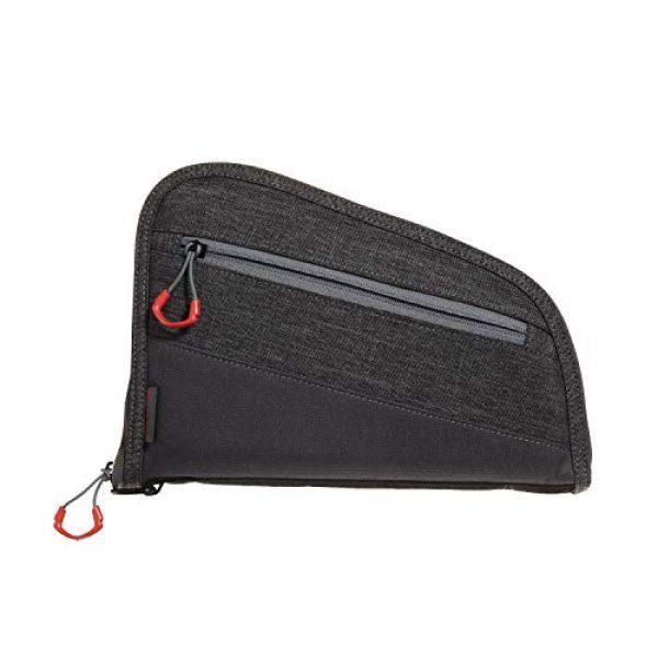 Allen Company Pistol Case 1 Allen Company 9 inch Auto-Fit 2.0 Handgun Case, Gray/Red