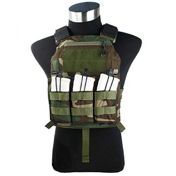 BGJ Airsoft Tactical Vest 1 BGJ Outdoor Tactical Vest Woodland 500D Cordura Domestic Fabric