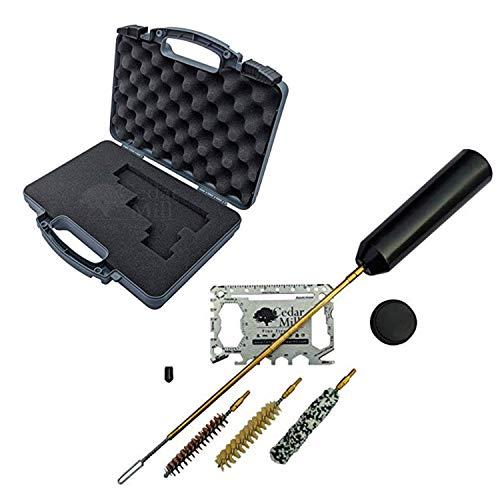Cedar Mill Fine Firearms Pistol Case 1 Cedar Mill Fine Firearms -Worlds Smallest Micro Pistol Cleaning Kit for Handguns | Free Super-X Tool Bundle with Hard Gun Case Pistol Case (Urban Gray) |TSA Approved with Pick and Pluck Foam (2 items)