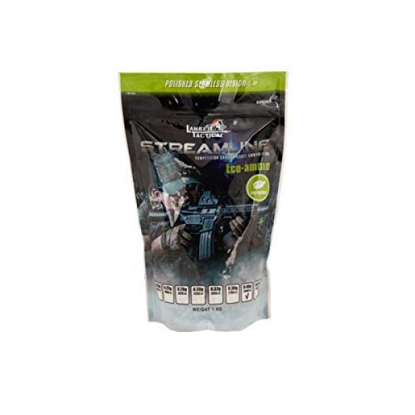 Lancer Tactical Airsoft BB 1 Lancer Tactical Eco-Ammo 0.40g BBS White 2500 ct for Airsoft High FPS Performance Biodegradable