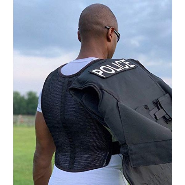 221B Tactical Airsoft Tactical Vest 4 221B Tactical Dry Cooling Vest - Body Armor Ventilation for Police, Military, Airsoft, Motorcycle, Paintball & Outdoor Games. Increase Air Flow Under Tactical Gear and Chest Rig/Carrier