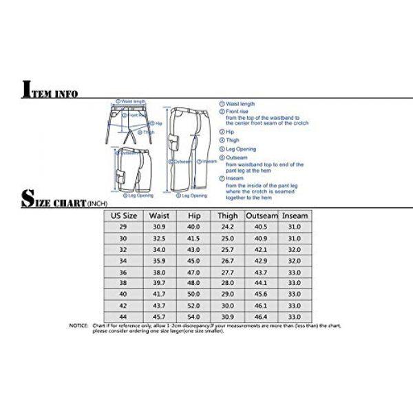 linlon Tactical Pant 6 Mens Cargo Pants, Camo Tactical Pants BDU Combat Work Pants with 8 Pockets