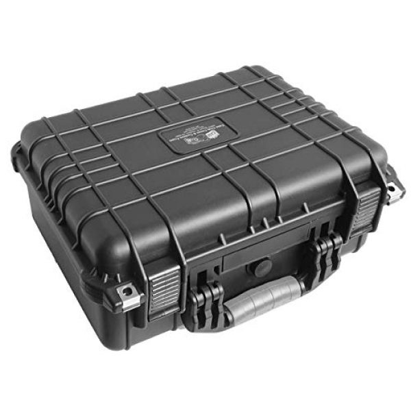 Case Club Pistol Case 6 Case Club Waterproof 2 Pistol Case & Accessory Pocket with Silica Gel
