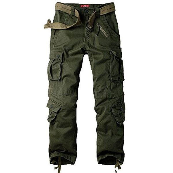 Jessie Kidden Tactical Pant 1 Men's BDU Casual Military Pants, Cotton Camo Tactical Wild Combat Cargo ACU Rip Stop Trousers with 8 Pockets