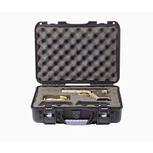 Levy's Outdoor Pistol Case 6 Levy's Outdoor Universal Waterproof and Dustproof Single Pistol Hard Case; Adjustable Foam Interior (GU-1309-03-UNV-GUN)