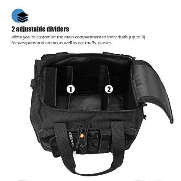 ProCase Pistol Case 3 ProCase Tactical Gun Range Bag for Handguns, Pistols and Ammo Bundle with Tactical Pistol Mag Pouch -Black