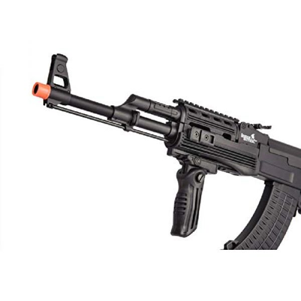 Lancer Tactical Airsoft Rifle 6 Lancer Tactical LT-728U AEG Airsoft Rifle with Folding Stock with Battery and Charger Black