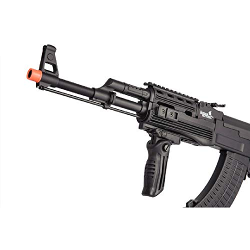 Lancer Tactical  6 Lancer Tactical LT-728U AEG Airsoft Rifle with Folding Stock with Battery and Charger Black