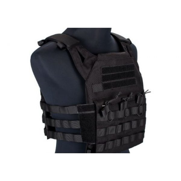 enmu pancho Airsoft Tactical Vest 2 Professional Airsoft Vest made with Durable nylon fabric - Black