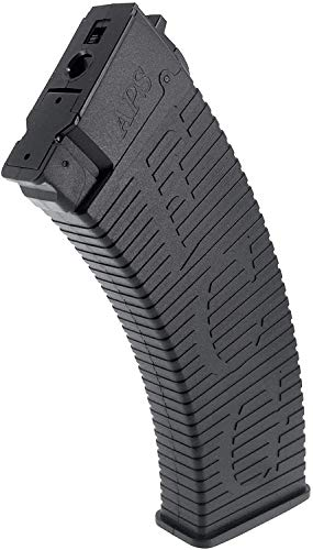 SportPro  3 SportPro APS 500 Round Polymer Thermold Waffle High Capacity Magazine for AEG AK47 AK74 Airsoft 6 Pack - Black