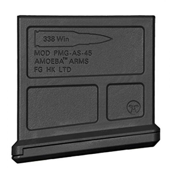 Elite Force Airsoft Gun Magazine 2 Elite Force Amoeba AS-01 Striker Rifle Gen2 6mm BB Sniper Rifle 45-Round Airsoft Gun Magazine, Black, one Size (2274591)