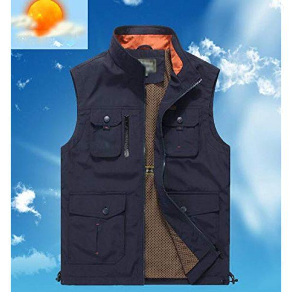 DAFREW Airsoft Tactical Vest 6 DAFREW Men's Casual Vest Multi-Pocket Vest Outdoor Fishing Photography Vest Grid Vest (Color : Royal Blue, Size : M)