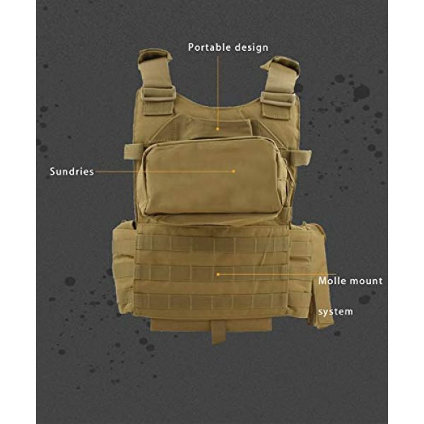 BGJ Airsoft Tactical Vest 3 Paintball 6094 Tactical Molle Vest Special Forces Military Army Vest Training CS Combination Vest Hunting Airsoft Body Armor