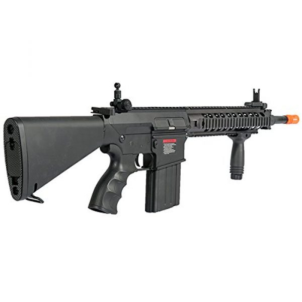 MetalTac Airsoft Rifle 3 MetalTac JG FB-6651 SR25K Electric Airsoft Gun Sniper Rifle, Full Metal Body, Metal Gearbox Version 2, Auto AEG, Upgraded Powerful Spring 410 Fps with .20g BBS