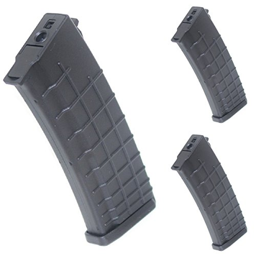 Airsoft Shopping Mall  1 Airsoft Shooting Gear 3pcs Pack CYMA 450rd Hi-Cap Waffle Magazine for AK-Series AEG BK