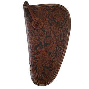 TLT Pistol Case 1 TLT Floral Genuine Leather Nocona Handgun Case. -Medium